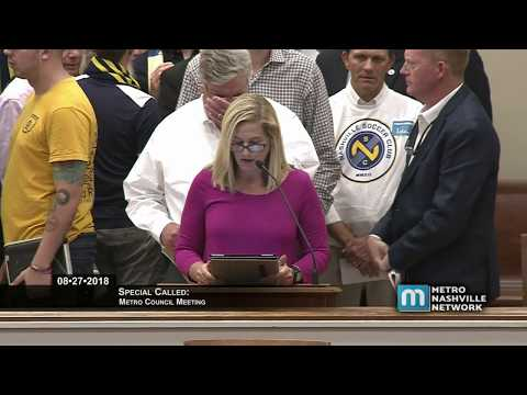 08/27/18 Special Called Metro Council Meeting