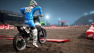 Monster Energy Supercross - Kawasaki KX 450 F - Test Ride Gameplay (PC HD) [1080p60FPS]