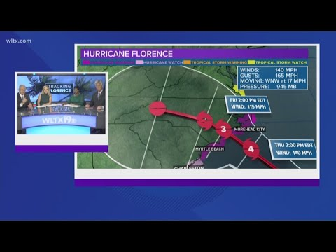 Hurricane Florence Forecast: Hurricane Warning in Effect for NC, SC