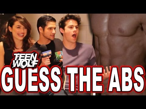 """""""Teen Wolf"""" Guess the Wolf Abs Quiz with Tyler Posey, Dylan O'Brien & Crystal Reed"""