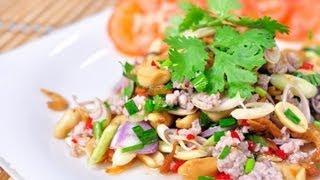 [Thai Food] Spicy Lemongrass Salad (Yum Ta Krai)