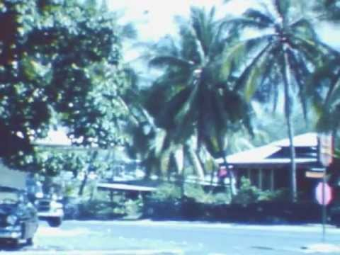 Kona - 8mm Film Footage taken in 1960 depicts Old Kailua-Kona Village on The Big Island.