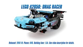 'Lego Technic 42050: Drag Racer' Unboxing, Parts List, Speed Build & Review