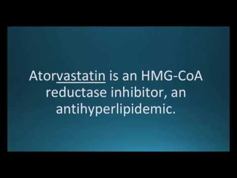 How to pronounce atorvastatin (Lipitor) (Memorizing Pharmacology Flashcard)