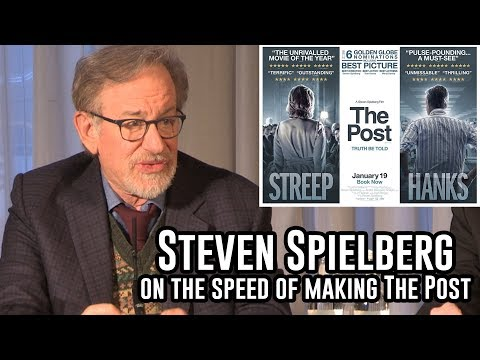 The Post Press Conference   Steven Spielberg on Donald Trump's Influence