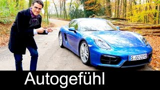 2015/2016 all-new Porsche Cayman GTS test drive REVIEW manual shift saphire blue