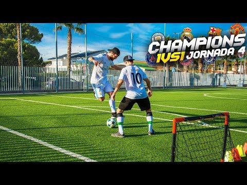 CHAMPIONS 1vs1   JORNADA 4  Retos de fútbol [Crazy Crew]