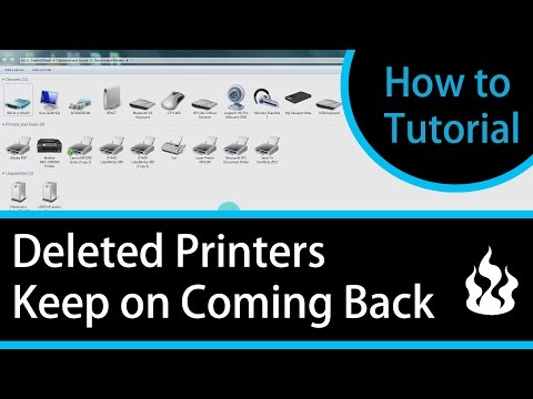 Deleted Printers Keep on Coming Back -  How To Tutorial - Delete the Printer Permanently