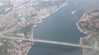 istanbul atatürk airport thy iniş 4k video turkish airlines istanbul landing