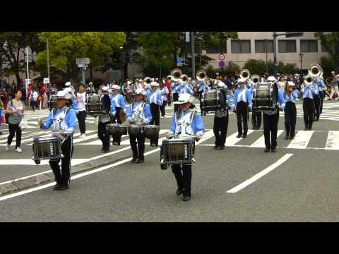 横浜市立潮田中学校マーチングバンド部 Yokohama Parade 2014 (Super 32) ザよこはまパレード2014
