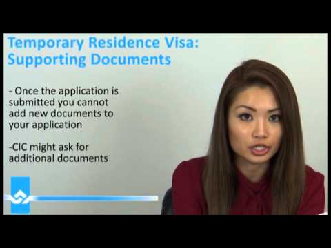 Temporary Resident Visa TRV Supporting Documents Video