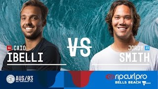 Caio Ibelli battles Jordy Smith in the Final at the 2017 Rip Curl Pro Bells Beach in Australia. Subscribe to the WSL for more action: https://goo.gl/VllRuj Watch all ...