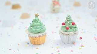 Babeczki świąteczne - choinki