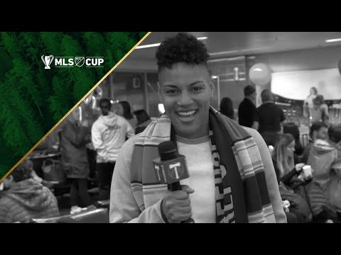 Video: Thorns FC's Adrianna Franch reports from the Alaska Airlines Timbers fan charter
