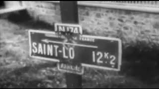 German Counterattack Near St. Lo Captured Film 1944 WW2 with sound. Action packed clip from a German propaganda film depicting an alleged counterattack east...