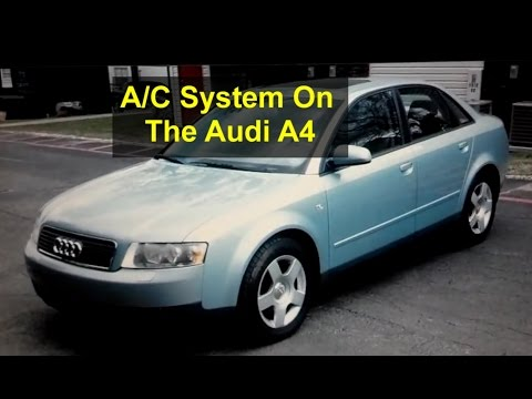Audi A4 Self Service Recharging the AC System 134a Freon – Auto Repair Series