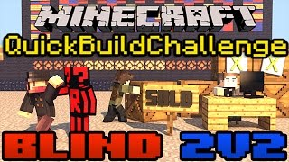 Minecraft Quick Build Challenge Blind 2v2 Edition: Microsoft!