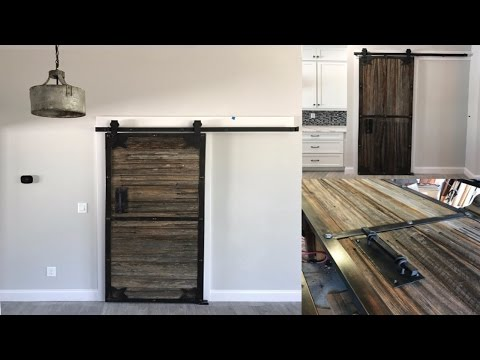 Sliding barn doors I made with old prison fence[11:37]