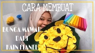 KAIN FLANEL BUNGA MAWAR TUTORIAL! Video