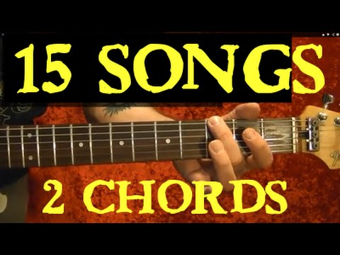 2 Chords – 15 EASY Songs – Guitar Lesson✅✅🎵