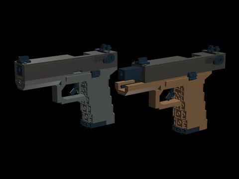 Custom Lego Gun Moc Jims Glock 18 Modification Instructions