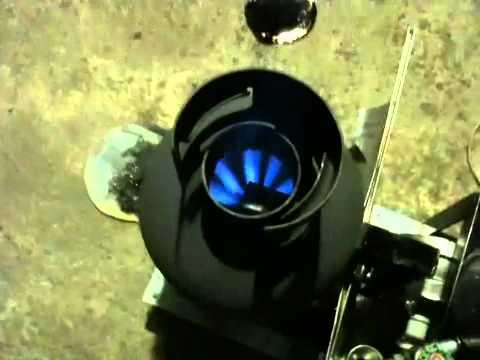 廃油ストーブ燃焼実験20100825 ②