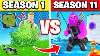 FORTNITE Season 1 vs season 10