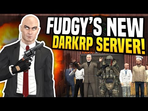 Garrys Mod - FUDGY'S NEW DARKRP SERVER - Gmod DarkRP  Becoming A Hitman!