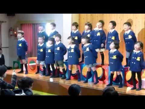 2014年12月 はちまん保育園(福井市)ゆり組(4歳児・年中)発表会合奏・うた