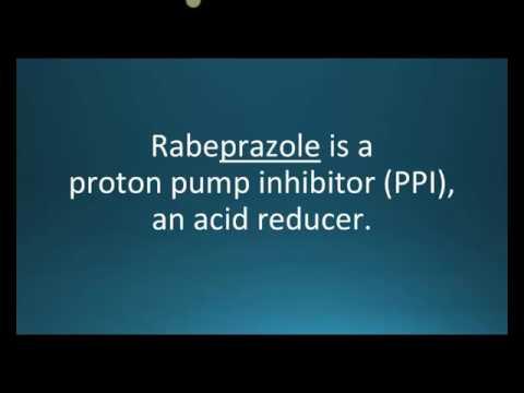 How to pronounce rabeprazole (AcipHex) (Memorizing Pharmacology Flashcard)