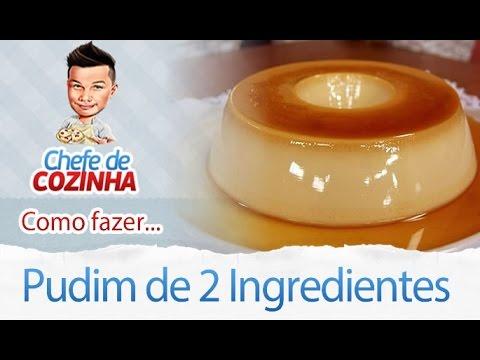 Pudim com 2 ingredientes