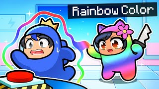 Playing As RAINBOW COLOR Imposters In Among Us!