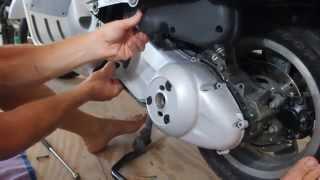 10. VESPA - CVT Cover Removal GTS GT GT60 GTV SUPER 125 200 250 300
