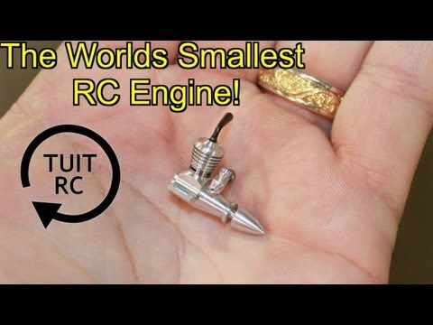 smallest - I met Ronald Valentine recently and he says he makes the smallest combustion engines in the world. I am not the expert here, but I must say he holds the titl...