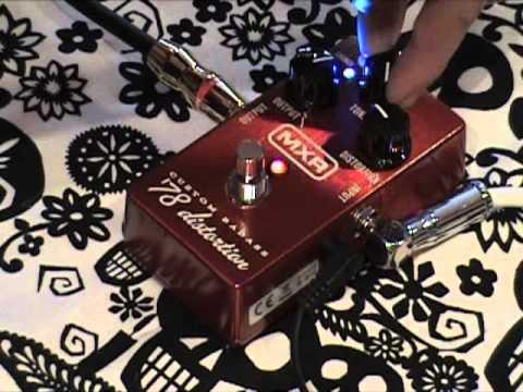 MXR Custom Badass 78 Distortion guitar effects pedal demo with SG