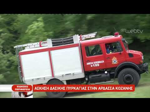 Άσκηση δασικής πυρκαγιάς στην Άρδασσα Κοζάνης | 10/05/2019 | ΕΡΤ