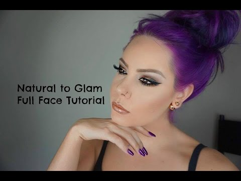 An Entire Full Face Makeup Tutorial!!! Natural to Dramatic Eye Look!!