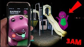 Video (BARNEY IS HAUNTED?!) CALLING BARNEY ON FACETIME AT 3AM | BARNEY FOUND IN A PLAY PLACE AT 3AM MP3, 3GP, MP4, WEBM, AVI, FLV Agustus 2018