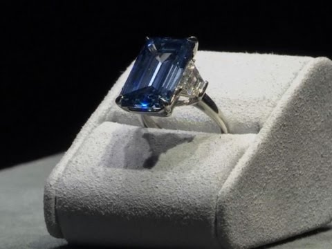 Preview of Rare Blue Diamond Ahead of Auction