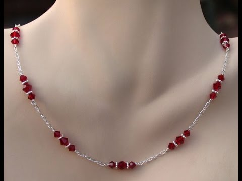 DIY Jewelry Making - How to Make a Simple chain Necklace + Tutorial .