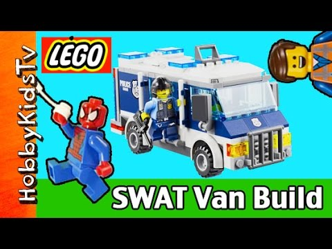 break - HobbyKidsTV presents LEGO City Police Museum Break-in 60008 SWAT Van Build. See HobbyKid build the Museum Break-in SWAT Van with Spider-Man and Emmet. Then see Spider-Man and Emmet interview...