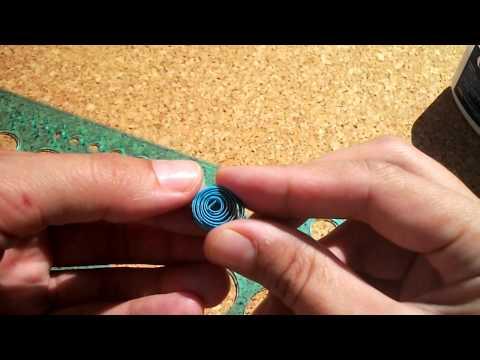 Video Cum se rulează un element quilling