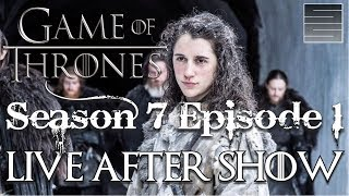 Game of Thrones Season 7 Episode 1 Review / Reaction  - Live After Show!Subscribe! http://tinyurl.com/o93l5gnNEW Shirts! https://teespring.com/stores/smokescreenvidsGame of Thrones Season 7 Episode 1 live stream, answering your questions, talking about Game Of Thrones Season 7 episode 1and just hanging out with you guys.  Game of Thrones Season 7 is here!#WinterishereMeltonart GOT Art: http://meltonart.com/storeDonate:  https://youtube.streamlabs.com/smokescreenvids1 (Will show on screen while streaming!)Music by TeknoAXE : https://www.youtube.com/watch?v=mekAc_3uWNY___________________________________________Become a Patreon: https://www.patreon.com/smokescreenvidsGet My Nerdy T-Shirts here: http://shrsl.com/?~aby2Support SmokeScreen by shopping on Amazon: http://tinyurl.com/ppogxl2Geek Gear: http://www.jdoqocy.com/click-8070392-...____________________________________________________Send Stuff:Lochmoor ProductionsPO Box 1011Kannapolis, NC 28083Follow Me on Social: Facebook: https://www.facebook.com/smokescreenvidsTwitter: https://twitter.com/smokescreenvids @smokescreenvidsInstagram: https://instagram.com/smokescreenvids @smokescreenvidsWebsite: http://smokescreenvids.com