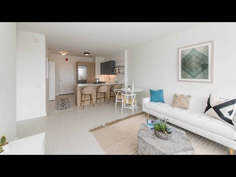 A north-facing 1-bedroom model at the new Landmark West Loop