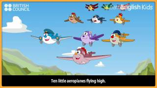Ten little aeroplanes with lyrics, LearnEnglish Kids