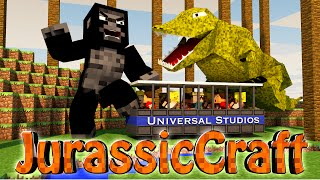 "Minecraft Dinosaurs | Jurassic Craft Modded Survival Ep 22! ""JURASSIC JEEP"""