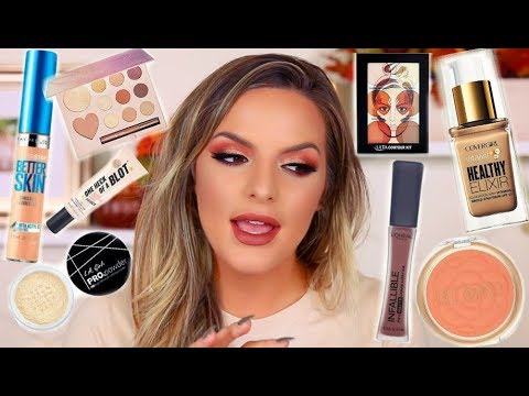 FALL MAKEUP TUTORIAL USING ONLY DRUGSTORE MAKEUP! | Casey Holmes