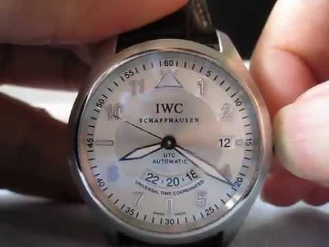 IWC FLIEGERUHR UTC TZC  Ref.3251-10 Spitfire Automatic Watch Function Testing