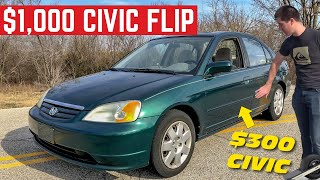 Video Can I MAKE $1,000 Flipping This Honda Civic In ONE Day? MP3, 3GP, MP4, WEBM, AVI, FLV Juli 2019