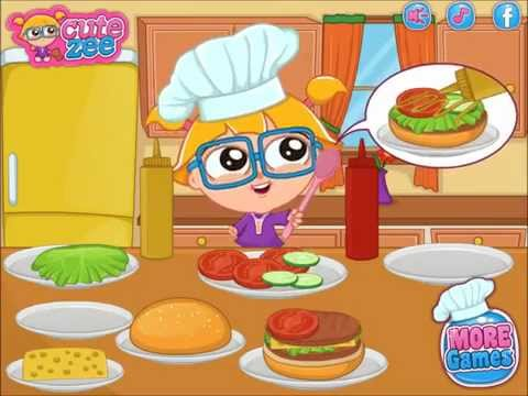 Cooking Video Game - Cutezee Cooking Academy Burger - Cutezee.com